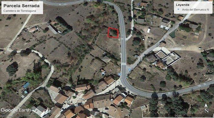 Vista aerea Carretera de Torrelaguna marcada